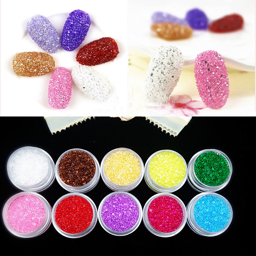 1000Pcs/Box DIY New 1.5mm Zircon Rhinestones Micro Shinny Mini Nail Art Decoration Tools(China (Mainland))