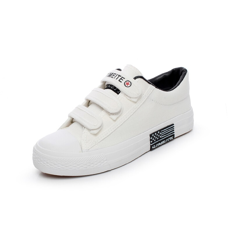 2015 spring and summer velcro shoes lazy canvas shoes female skateboarding shoes low flat cotton-made shoes casual shoes