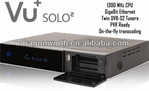 Vu+ solo 2 twin tuner HD decoder with openpli 3.0 vu solo 2 Linux reciever 1300 MHz CPU 2 dvb-s2 tuner STB satellite tv recever(China (Mainland))