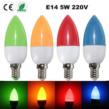 Buy 2835 SMD 10 LED Chandelier Candle Light Bulb E14 5W Energy Saving Plastic Lamp Bulb 200 Lumen Non Dimmable Lighting AC 220V for $1.25 in AliExpress store