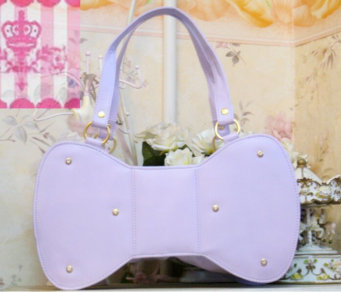 Oversized Bow Lolita cute handbag messenger bag, candy colors girl bags, bags exclusive original three color options(China (Mainland))