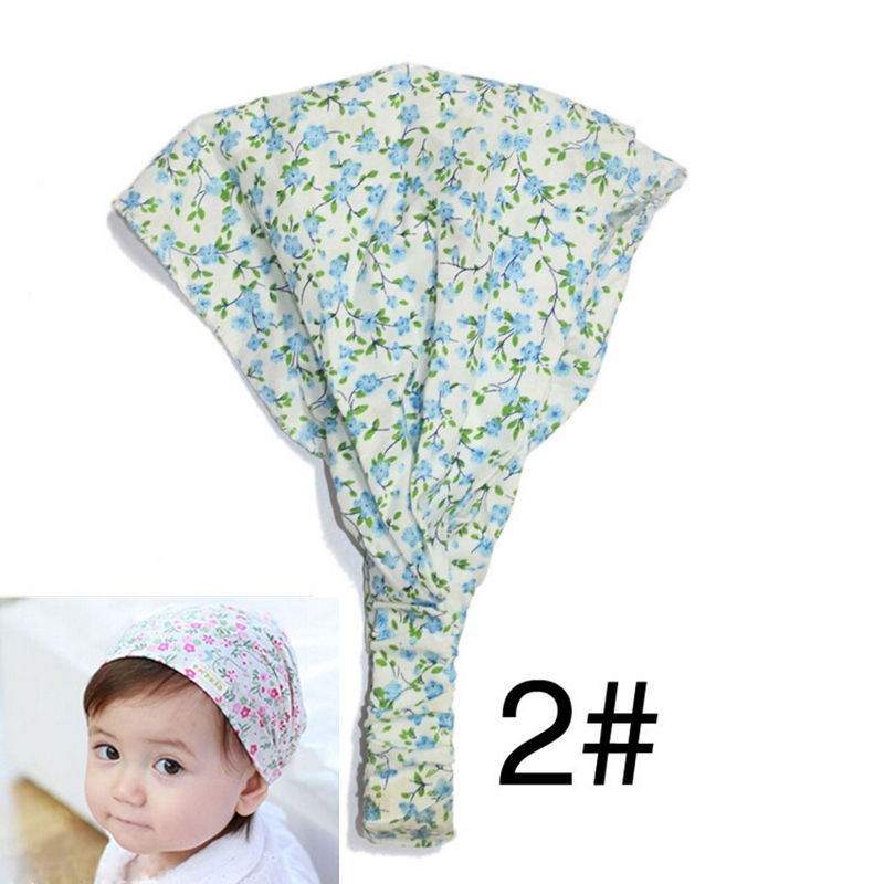 4 Colors Baby Girl Bandana Hats Kid Newborn Flower Headband Hair Wear Accessories Headscarf Headwears(China (Mainland))