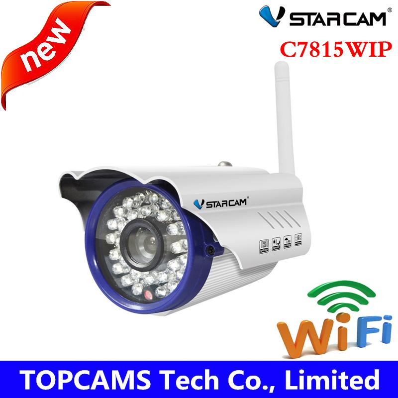 Фотография VStarcam IP Camera C7815WIP1.0 MegaPixel Plug&Play wifi Infrared waterproof mini gun camera outdoor camera Wireless