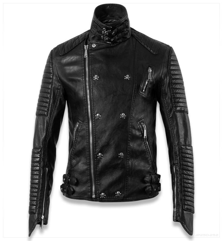 Skull-Homem-Motorcycle-Mens-Biker-Jackets-Famous-Brand ...