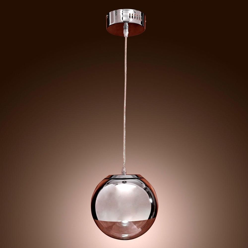2015 NEW Modern Globe Chrom Mirror Glass Ball Vacuum LED Pendant Light Lustre Ceiling Lamp Christmas Lighting Fixture 115cm Wire(China (Mainland))