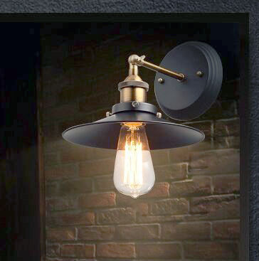 Black color retro loft vintage movehead wall lamp sconces  industrial home lighting fixture for living room free shipping<br><br>Aliexpress