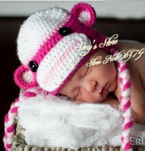 Crochet Pattern For Baby Monkey Hat : Image Baby Sock Monkey Hat Crochet Pattern Download