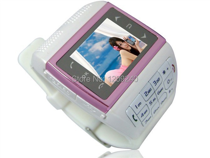 High quality Gift smart cell phone Watch Telephone Quad Band 1.3M Camera Bluetooth MP3 MP4 1.3'' Touch Screen(China (Mainland))