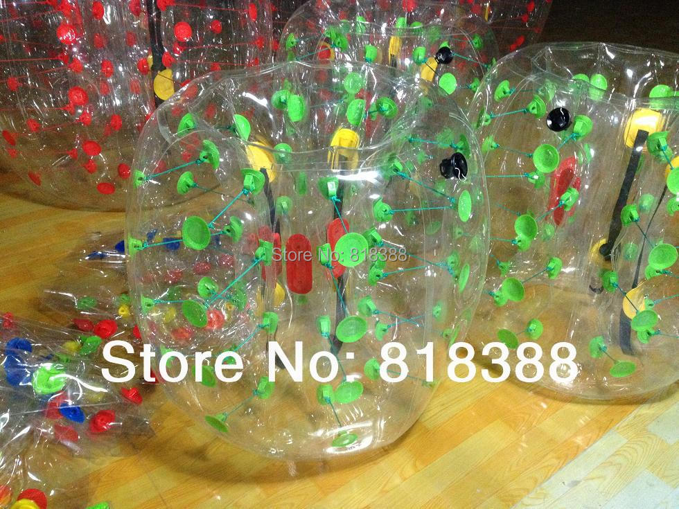 Transparent 1.2M pvc bubble football /soccerball/body bumper for kids(China (Mainland))