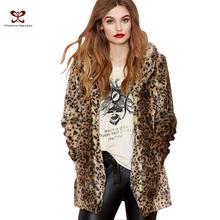 Russian New Women Clothing Winter soft Faux Fur Coat Leopard Gradual Color For Thick Warm Fur Jacket Women Coat Plus Size 6XL (China (Mainland))