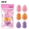 4 Mini Color Gota Forma Set Fundação BB Creme Base de Maquiagem Cosméticos Puff Blender Flawless Concealer Blush Beleza Mista Kit