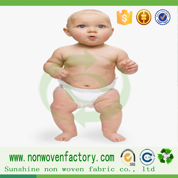 Spun bonded non woven hydrophilic baby diaper material(China (Mainland))