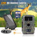 Free shipping 8GB 720P Wildlife Hunting Camera Infrared Video Trail Scouting Camera Black 940NM LED Solar