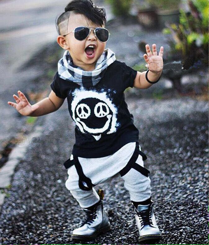 2016 summer baby boy clothes baby clothes set cotton short sleeved printing t-shirt +pants 2pcs suit newborn infant clothing(China (Mainland))
