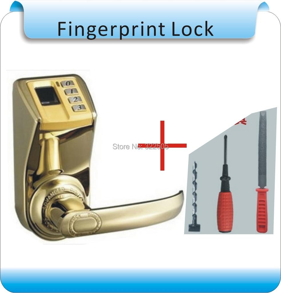 DIY ADEL Fingerprint Lock 3398 /adel 3398 lock indoor lock/fingerprint door lock+Installation tools(China (Mainland))