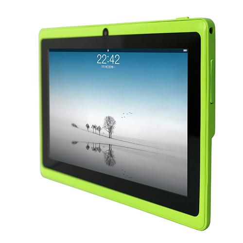 Q88 7 дюймов android-allwinner A33 емкостный экран четырехъядерный процессор 512 МБ + 4 ГБ, Двойная камера, Внешний 3 г планшет пк бесплатная доставка