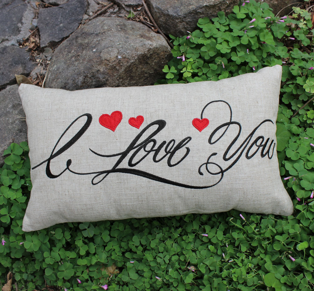 Throw Pillow Cover Only : new only 1 piece embroider