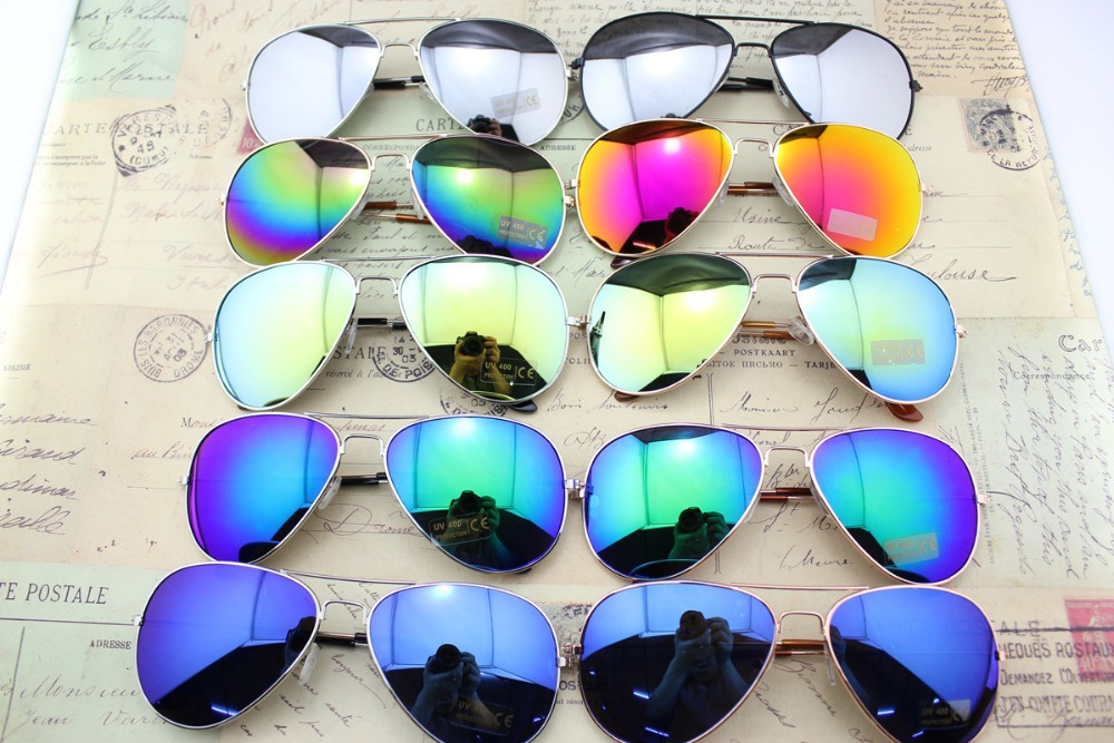 Fashion Vintage Eyeglasses Women & Men mirror Lenses Sunglasses, Eyewear UV 400 Protection Optical Fashion Sun Glasses(China (Mainland))