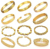 OPK JEWELRY 10pcs/lot MIixed Order Gold Plated Bracelet & Cuff Bangles Wedding Bridal Jewelry Chains Free Shipping