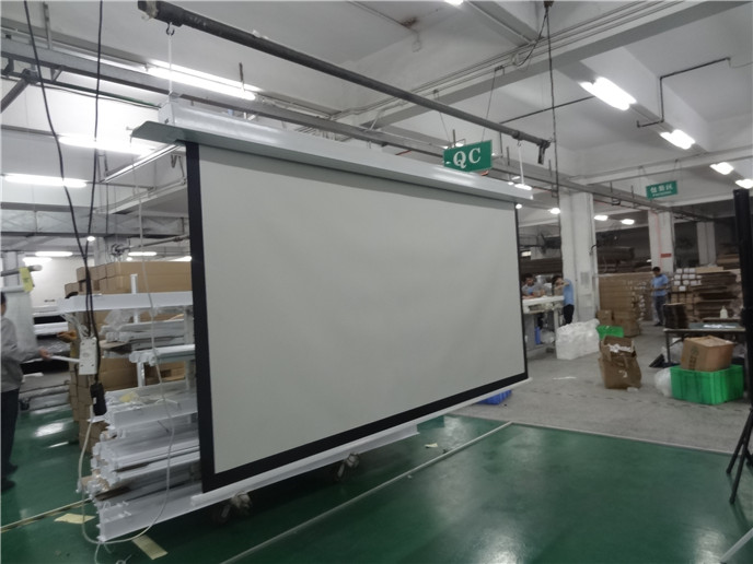 130 16 9 Aluminum In Ceiling Recessed Electric Projector