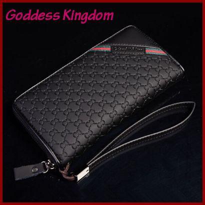 2016 New Men s Luxury Leather Business Bag Clutch Scottish font b Tartan b font Stylish
