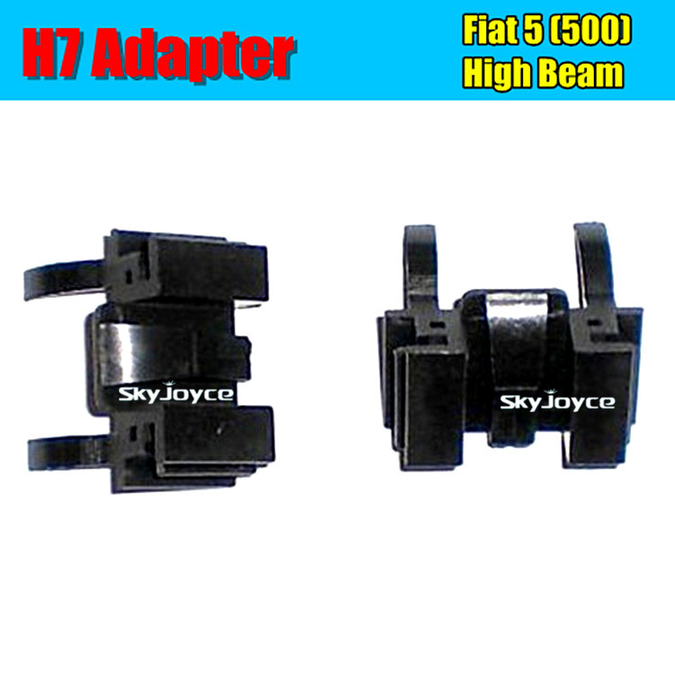 2016 new 2 X hid xenon bulb H7 holder base black color auto headlights H7 Adapter socket for Fiat 500 car styling Accessories(China (Mainland))