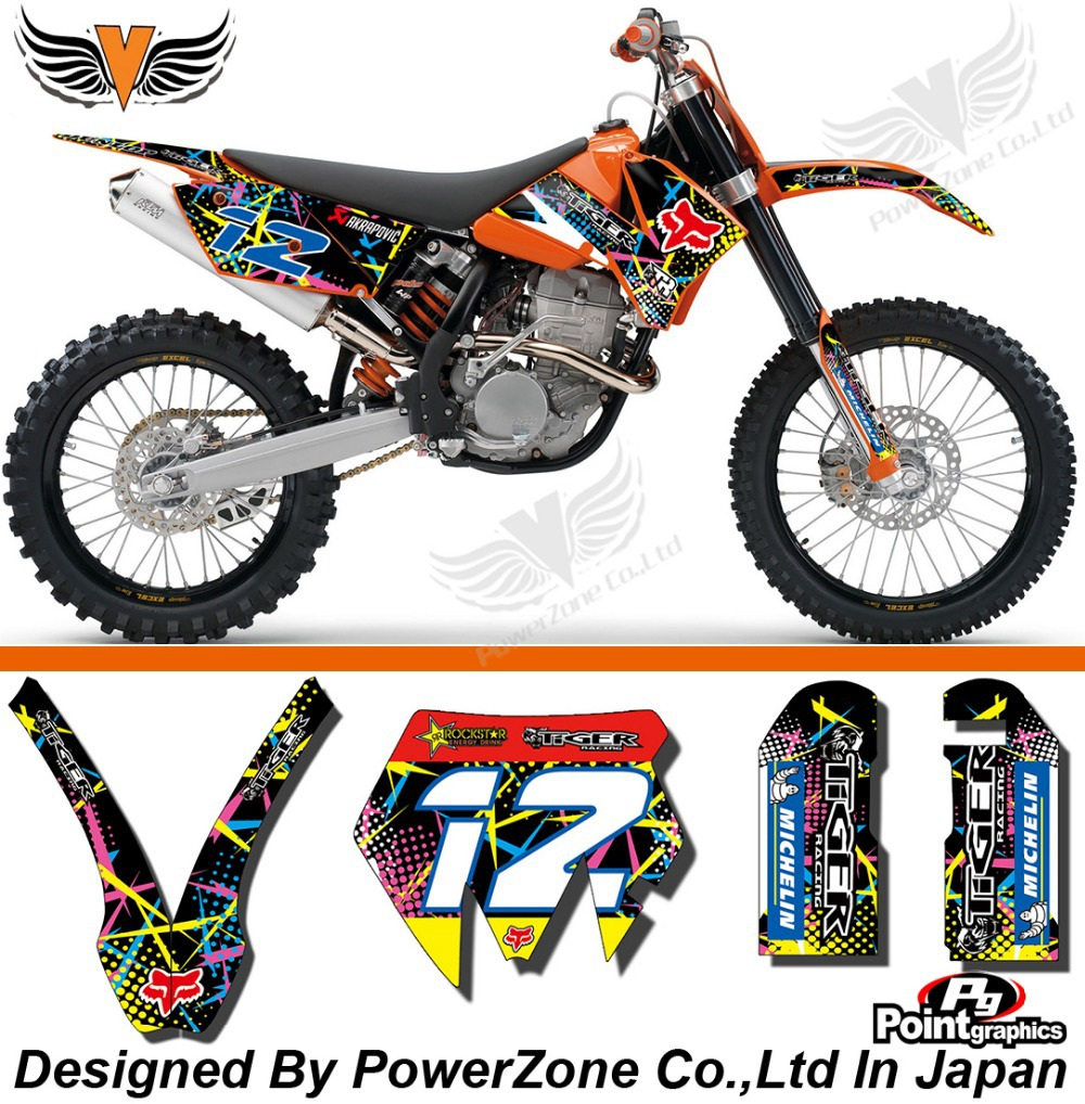 Team Graphics & Backgrounds Decals Scratch Resistant 3M X Stickers Kits KTM SX SXF 03-04 05-06 10 EXC 05 06 07 Free Shpping