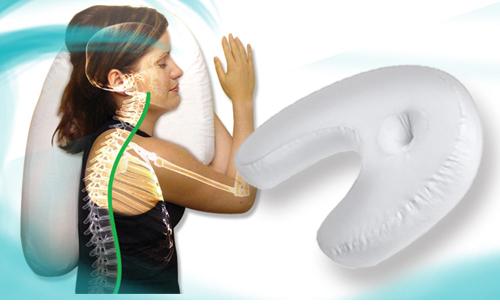 Portable U shape massage memory pillow zero stress healthy U neck pillow travel inflatable air neck pillows ostrich pillow(China (Mainland))