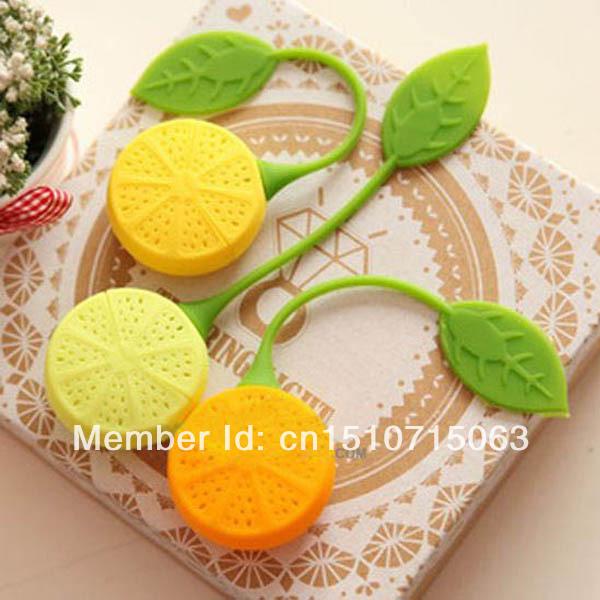 Free Shipping Silicone Teabag Tea Strainer Infuser Teapot Teacup Filter Bag Lemon Style Hot 1 pcs/lot qfjlA(China (Mainland))