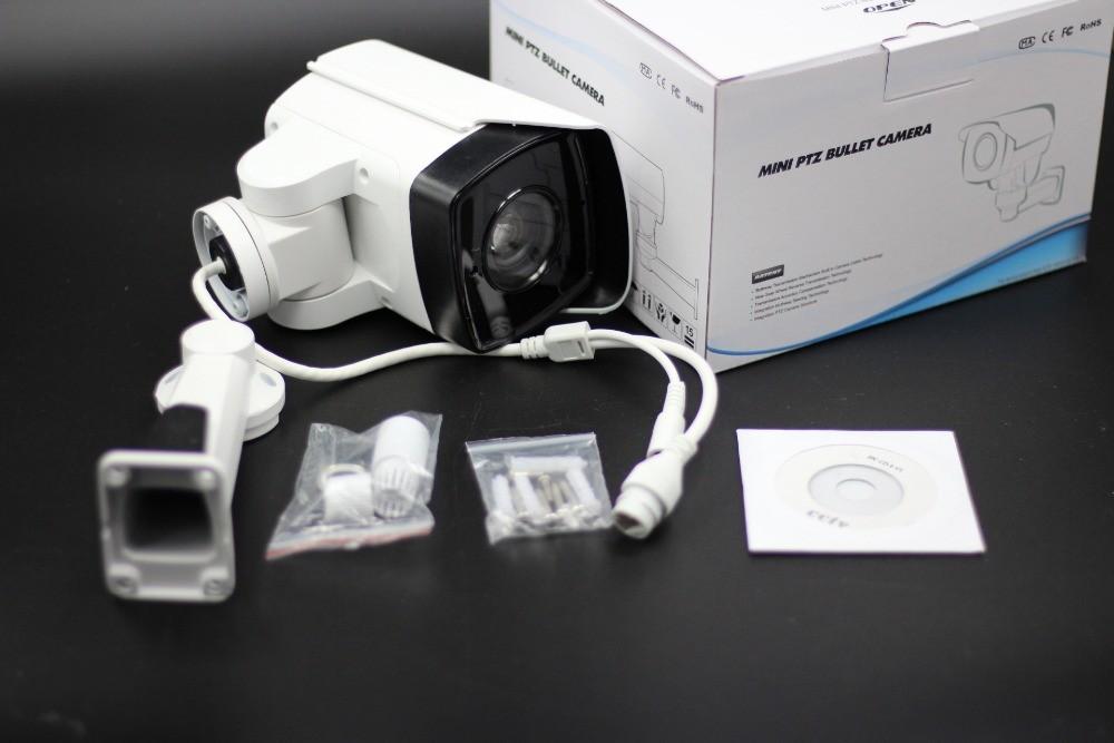 YUNCH New Arrival Rotary 2.0M Mini IR PTZ Camera 4X Motorized Zoom Full HD 1080P ONVIF P2P IP IR PTZ Bullet Camera