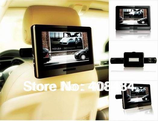 9 Inch Headrest Monitor Car DVD Player Portable DVD Player 32 Bit Game USB SD IR FM Retail/Pc Free Shipping