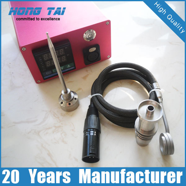 enail package fit 14mm 18mm glass nail (coil heater digital controller Kevlar cord XLR connector titanium nail and carb cap)(China (Mainland))