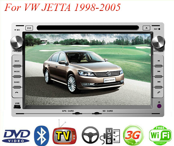 2 Din Car DVD Player Fit Volkswagen VW JETTA 1998-2000 2001 2002 2003 2004 2005 GPS TV 3G Radio WiFi Bluetooth Wheel control(China (Mainland))