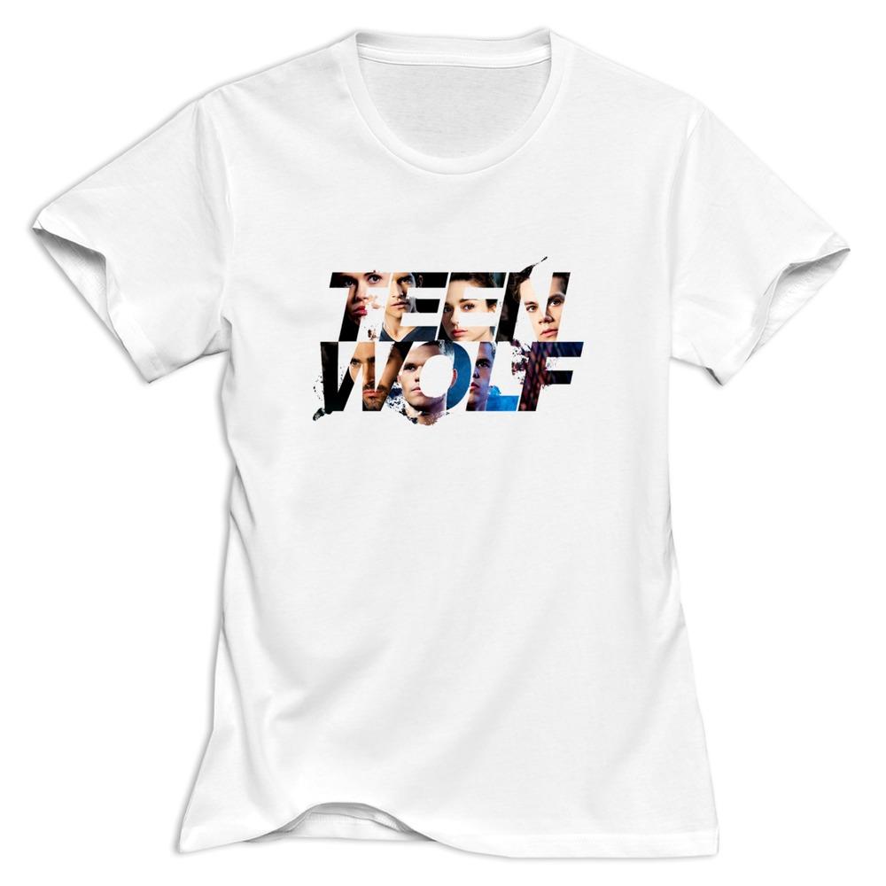 2015 fashion cotton t shirt teen wolf women t shirts free for Usps t shirt shipping