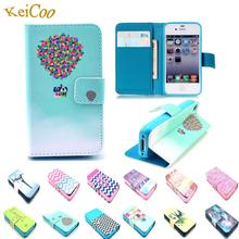 Cartoon Style Printing Wallet Cover For Apple iphone 6 6S iphone6 i6 Cases Book Flip Stand Man Women PU Leather Protective Shell