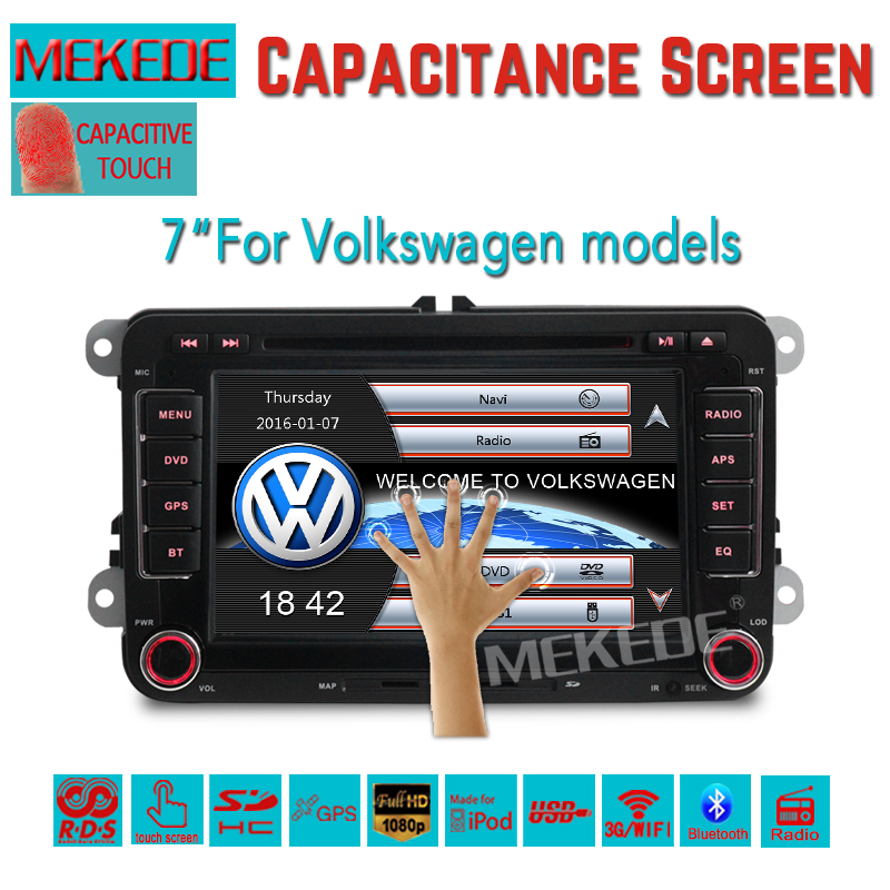 New 7  2 din Car DVD Volkswagen VW golf 4 golf 5 6 touran passat B6 sharan jetta caddy transporter t5 polo tiguan avec gps<br><br>Aliexpress