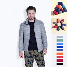 2015 new ultra-thin hooded jacket young men with oversized feather coat autumn/winter Winter sweater jacket