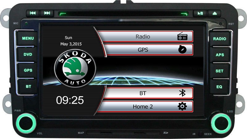 """7"""" HD Capacitive Screen Car CD DVD Player with GPS Car Radio For Skoda/Octavia/Fabia/Rapid/Superb built-in Can bus Ipod RDS(China (Mainland))"""