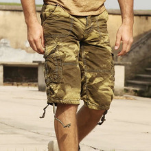 City hunter Camouflage shorts male tactical cargo short pants capris 100 cotton casual loose military style