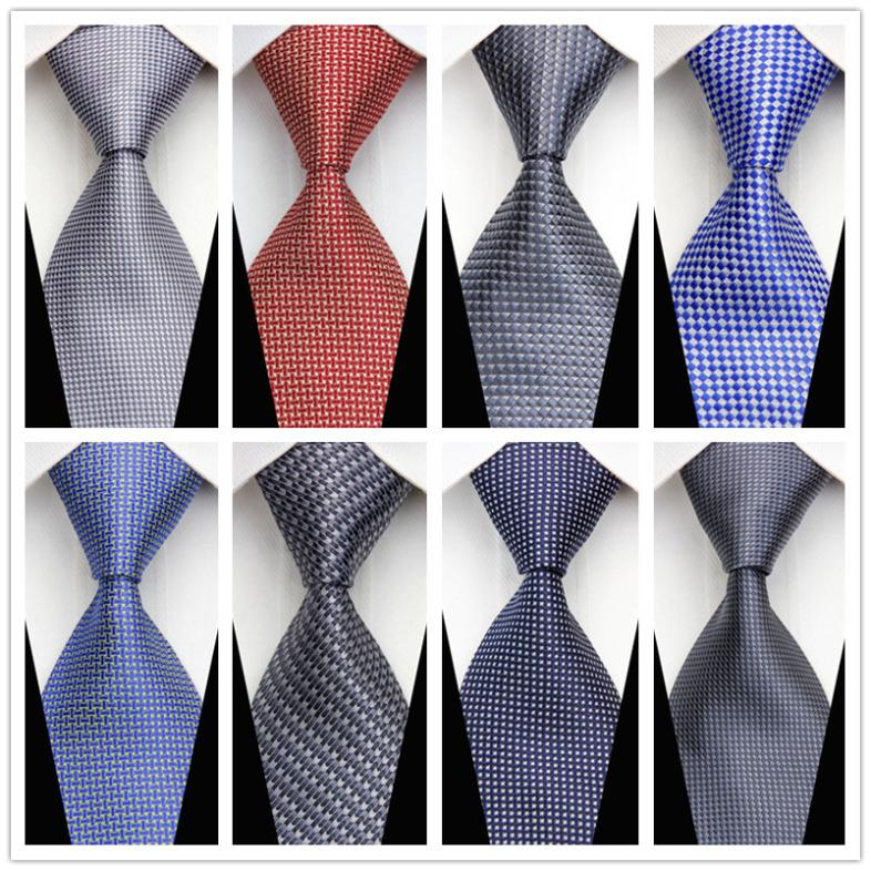 CON70 2015 New Fashion Check Geometric Green Red Blue Orange Classic Silk Necktie Business Casual Knitted Tie Gravata For Man(China (Mainland))