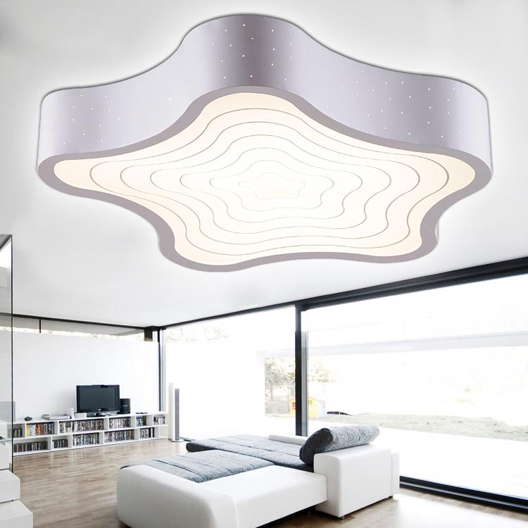 Bedroom Light Star Lampshade Acrylic Ceiling Lamp White And Black Led Modern Simple Ceiling Light Fixtures