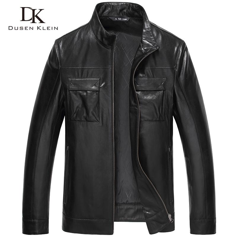 Men Genuine Leather Jacket Autumn Outerwear Black/Slim/Simple Business Style/Sheepskin Coat 15J5813Одежда и ак�е��уары<br><br><br>Aliexpress