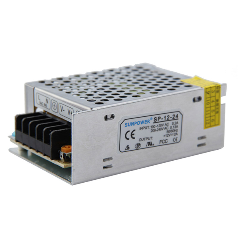 Free Shipping 12V 2A 25W Switch Power Supply Driver for LED Strip Light Display used automation LED display communications E#TN(China (Mainland))