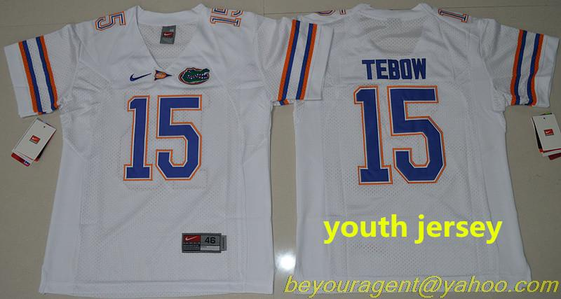 youth kids free shiping A+++ quality Florida Gators Tim Tebow 15 College no-1,camouflage(China (Mainland))