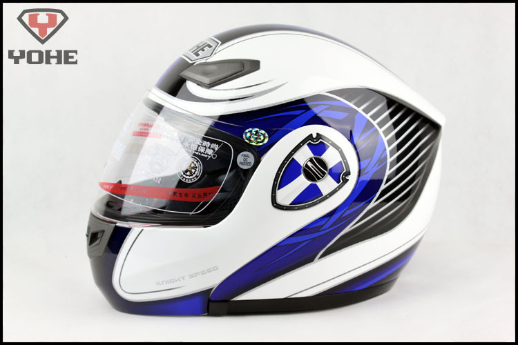 snowmobile helmet highway Motorcycle Helmet Open face helmet men women warm blue white cross Size M L XL XXL No.36(China (Mainland))