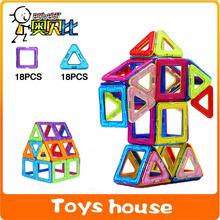 36 шт. магнитного строительные блоки магнитного игры дизайнер просвещения кирпичи магнитных блоков игрушки модели и строительство игрушки для детей(China (Mainland))