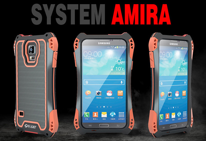 High Quality Metal material Glass shockproof rugged dropproof water proof case for samsung galaxy note 4 N9100 phone hard cover(China (Mainland))