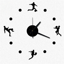 Buy DIY acrylic mute football style fun wall clock wall sticker creative sport style watch home decoration hot sale Free for $11.76 in AliExpress store