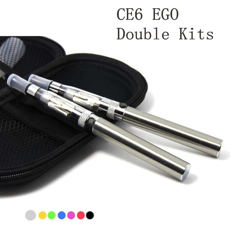 Гаджет  1PCS dual ego ce6 CE4+ kit vaporizer Atomizer electronic cigarettes 650mah 900mah 1100mah ego battery zipper case None Бытовая электроника
