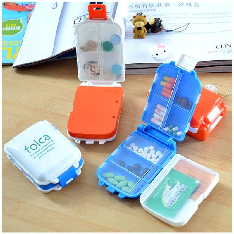 Portable Mini Sort Folding Vitamin Medicine Drug Container Pill Box Storage Cases(China (Mainland))